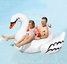 Greenco Giant Swan Float Toy Rideable Raft Swimming Pool Celebrity 75 INCH