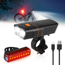 90000Lm 8.4V Rechargeable Cycling Light Bike Bicycle Led Front & Rear Lamp Set