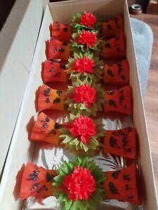 Antique  vintage  orange flora Christmas  crackers