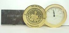 VTG RARE 1985 Northeastern University Hockey BEANPOT CHAMPIONS Clock & Card Case