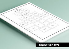 PRINTED CEYLON 1857-1971 STAMP ALBUM PAGES (39 pages)