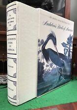 AUDUBON'S BIRDS OF AMERICA 1990 HC/DJ/Slip Abbeville Edition Baby Elephant Folio