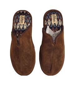 Deluxe by Dearfoams Men Bedroom Slippers Size Large  11-12