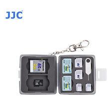 JJC MC-10D Memory Card Case fits 2 SD 2 MSD 2 SIM 2 Micro SIM 2 Nano SIM sm