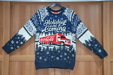 More details for coca cola christmas truck navy jumper holidays are coming size: s m l xl 2xl 3xl