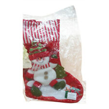 Christmas Red Snowman Stocking XMAS Sock Gift Bags Candy Bags Hanging