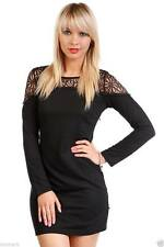 Polyester Round Neck Long Sleeve Party Dresses for Women