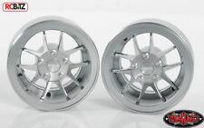 """RC4WD Rotiform SNA 1.9"""" Verrou de talon scale wheels SILVER Z-W0254 Inc moyeux RC Jouet"""