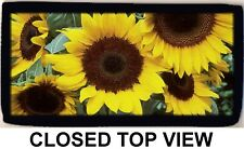 Sunflower Sunflowers Color Photo Checkbook Cover Wallet Credit Card ID Holder NW
