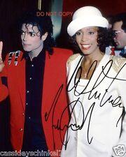 "Michael Jackson & Whitney Houston Reprint Signed 8x10"" Photo RP #2"