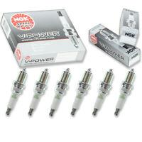 6 pc 6 x NGK V-Power Plug Spark Plugs 2087 BKR5EYA 2087 BKR5EYA Tune Up Kit xh
