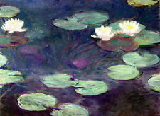 Claude Monet Water Lilies canvas print giclee 8X12 & 12X17 reproduction painting