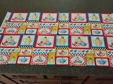 Tea Time Patch Panel 23x43 Mary Engelbreit Quilting Treasures Teapot Teacup Cup