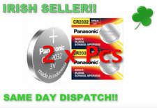 CR2032 3V Lithium Coin Button Cell Battery 2 x Panasonic
