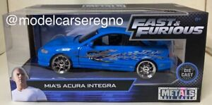 1:24 JADA TOYS MIA'S ACURA INTEGRA FAST AND FURIOUS BLUE