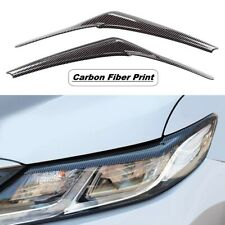For 2018-2021 Toyota Camry Carbon Fiber Print Headlight Eyelid EyeBrows Covers