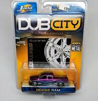 Jada Toys Dub City Purple/Silver Dodge Ram 1:64 - New