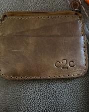 Carbon2Colbalt Leather Simple Card Holder