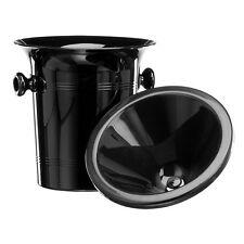 Black Plastic Wine Spittoon - Standard Size 2L with Black Funnel