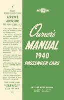 1940 Chevrolet Owners Manual User Guide Reference Operator Book Fuses Fluids OEM