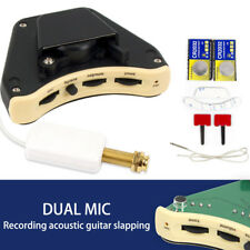 Acoustic Guitar Soundhole Preamp Piezo Pickup EQ with Microphone Slapping Pick