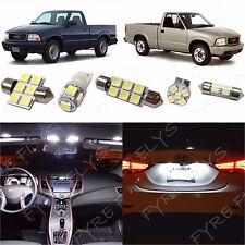 9x White LED lights interior package kit for 1998-2003 GMC Sonoma CO1W