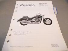 Honda Set Up Instructions 2003 VTX1800R