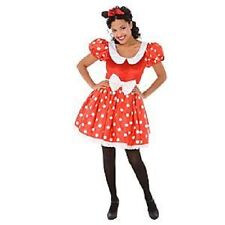 ADULT~16/18 (XL)~MiNNiE MoUsE~COSTUME+EARS+RED BOW+WHITE GLOVES~NWT~Disney Store