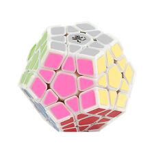 Dayan Megaminx Twisty Puzzle Magic Cube Speedsolving with Corner Ridges White