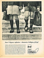 PUBLICITE ADVERTISING  1965   COLLEGIEN  chaussettes