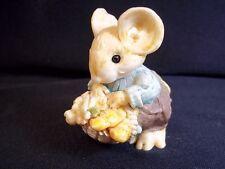 Little Cheesers figurine Grandpa Thistledown with picnic basket 1991 Ganz 05109