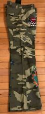 NWT Ed Hardy Camo Cargo Dept Vintage Tattoo Twill Pants Skull Heart Jeweled 29