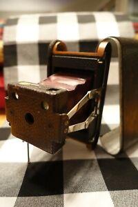 1898 Kodak Red Bellows No 1 Model B Folding Pocket Camera