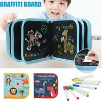 Portable Painting Book Graffiti Board Writing Pad Erasable Drawing Board Kids.