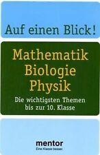 Auf einen Blick! Mathematik Biologie Physik. Die wichtig... | Buch | Zustand gut