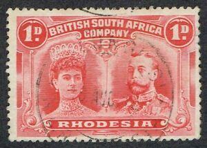 1910 Rhodesia Double Head 1d P14 SG124 KALUNGUISI CDS Very Fine Used