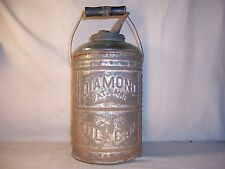 Rare Antique Diamond Glass / Tin Oil Can Pat. Mar. 27 1883 Kerosene Can Bottle