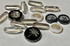 Czech Glass Beads Dragonfly,flower's,Czech Black diamond