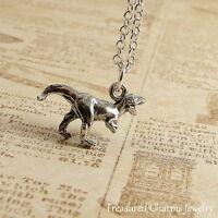 Silver Tyrannosaurus Rex Charm Necklace - T-Rex Dinosaur Pendant Jewelry NEW