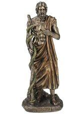 "Greek Mythology Asclepius God Of Medicine  11.5"" Cold Cast Bronze Statue"