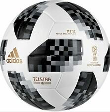 New Adidas Telstar Fifa World Cup Russia 2018 soccer mini ball, Size 1 sr