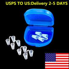 6pc Soft Nasal Dilators Nose Clip Vent Breathing Stoper Anti Snoring Apnea Aid
