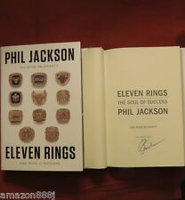 SIGNED PHIL JACKSON IN PERSON Eleven Rings:The Soul of Success 2013 HC 1st/1st