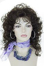 Chestnut Brown Brunette Medium Curly Wigs