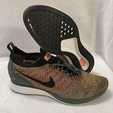 New listing Nike Air Zoom Mariah Flyknit Racer Shoes Black Vintage Green Sz M 8.5 WM 10