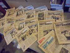 LOT OF 14 1989 KNOXVILLE DIRT DIGEST NEWSPAPERS,SPRINT CAR RACINGRESULTS,RACERS,