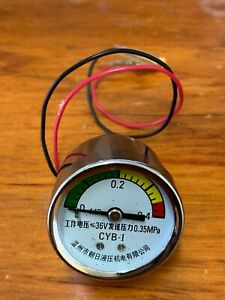 Brand New Hydraulic Pressure Gauge up to 0.35Mpa 3.5Bar DC36v + free shipping