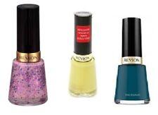 Set of 4 Revlon  Enamel Nail Polish Glitter Colors Pink Girly Yellow Blue