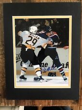 Jay Miller Boston Bruins 8x10 Fight Photo Double Matted