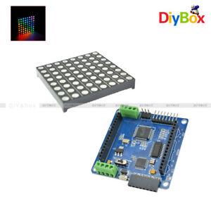 5mm 8*8 8x8 Color RGB Dot Matrix LED Display Shield ATmega328P for Arduino